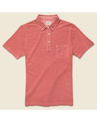 Faherty Brand Garment Dyed Polo - Faded Red for men
