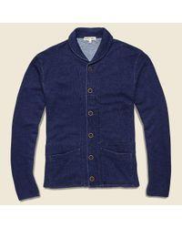 Alex Mill Blue French Terry Shawl Collar Jacket - Indigo for men