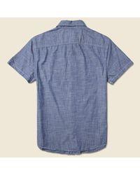Save Khaki Blue Chambray Workshirt - Indigo for men