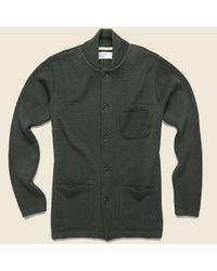 Universal Works Green Knit Work Jacket - Olive for men