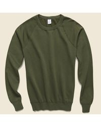 Save Khaki Green Supima Fleece Sweatshirt - Olive for men