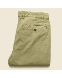 Faherty Brand Natural Comfort Canvas Trouser - Dusty Khaki for men