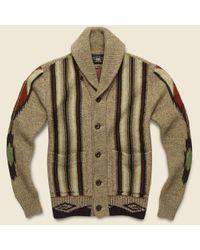 RRL Multicolor Chimayo Shawl Cardigan - Earth for men