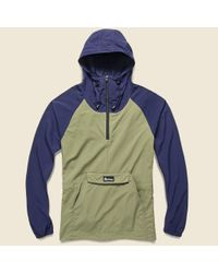 Penfield Blue Pacjac Colorblock Jacket - Navy Olive for men