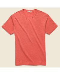 Alex Mill New Standard Crew Tee - Washed Red for men