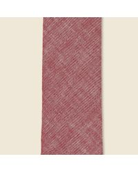 The Hill-side - Pink Selvedge Chambray Pointed Tie - Plum Violet for Men - Lyst
