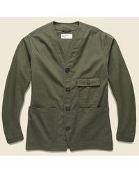 Universal Works Green Cabin Jacket - Olive for men