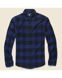 Alex Mill Buffalo Check Flannel - Blue for men