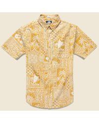 Reyn Spooner Metallic Tapa Wrappa Shirt - Butterscotch for men