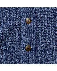 Faherty Brand Blue Shawl Cardigan Sweater - Washed Indigo for men