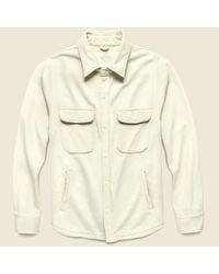 Save Khaki Natural Supima Fleece Cpo Shirt Jacket - Stone for men