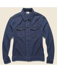 Faherty Brand Blue Route 80 Jacket - Indigo for men