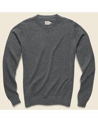 Faherty Brand Gray Sconset Crew Sweater - Ash for men