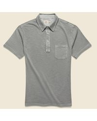 Faherty Brand Gray Garment Dyed Polo Shirt - Ice Grey for men