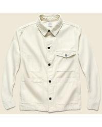 Save Khaki Natural Twill Work Jacket - Stone for men