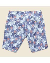 Alex Mill - Palm Leaf Galley Short - Blue/red for Men - Lyst