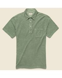 Faherty Brand Green Garment Dyed Polo Shirt - Spring Olive for men