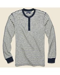 Levi's Blue Henley - Pristine Stripe for men