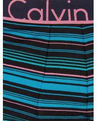 Calvin Klein - Lively Black Stripe Printed Trunks for Men - Lyst