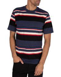 Carhartt WIP Blue Sunder Stripe T-shirt for men