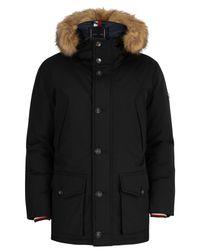 Tommy Hilfiger Black Hampton Down Parka Jacket for men