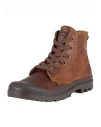 Palladium Brown Sunrise/chocolate Pampa Hi Leather Boots for men