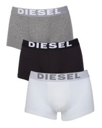 DIESEL White/black/grey Kory 3 Pack Trunks for men