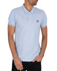 Lyle & Scott Blue Tipped Polo Shirt for men