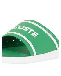 Lacoste - Green/white L.30 Slide 118 3 Cam Flip Flops for Men - Lyst