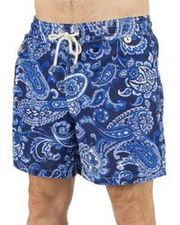 692b06a318 Lyst - Polo Ralph Lauren Blue Traveller Paisley Logo Swimshorts in ...