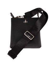 Vivienne Westwood Black Square Crossbody Bag for men