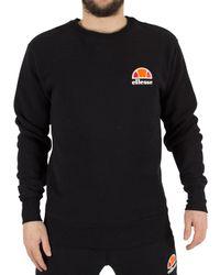 Ellesse Black Anthracite Diveria Left Chest Logo Sweatshirt for men