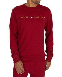 Tommy Hilfiger Red Logo Sweatshirt for men