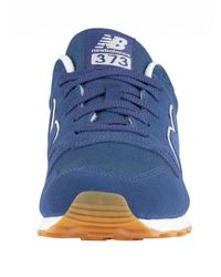 New Balance Blue 373 Suede Trainers for men