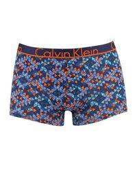 Calvin Klein Blue Pattern Trunks for men