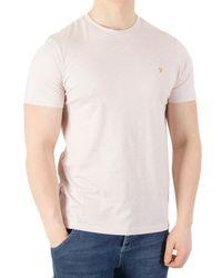 Farah Pink Denny Rose Marl Slim Fit T-shirt for men