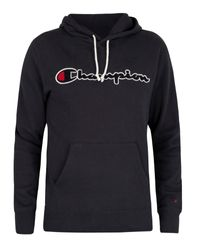 Champion Blue Graphic Pullover Hoodie for men