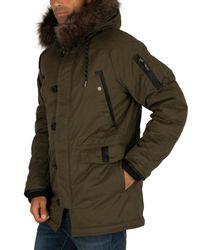 Superdry Green Sdx Parka Jacket for men
