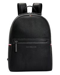 Tommy Hilfiger Black Essential Pebble Grain Backpack for men