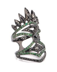 Nikos Koulis   Multicolor Spectrum Collection 18k Diamond And Tsavorite Ring   Lyst