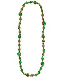 Devon Leigh | Copper Infused Compressed Green Turquoise Necklace | Lyst