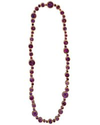 Devon Leigh | Multicolor Plum Copper Infused Compressed Turquoise Necklace | Lyst
