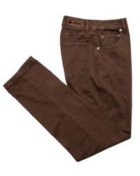 Kiton | Brown Rust 5 Pocket Pant for Men | Lyst