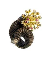 Gaelle Khouri | Metallic Veins Ring | Lyst