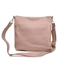 Valentino - Pink Poudre Rockstud Hobo Bag - Lyst