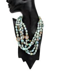 Nest | Blue Opal Multi Strand Necklace | Lyst