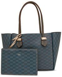 Moreau Small Vincennes Shopper Bag In Blue G3 Grey
