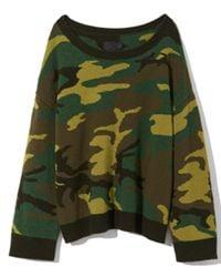 Nili Lotan - Green Camouflage Moselle Sweater - Lyst