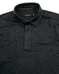 Ermenegildo Zegna Blue Navy Jersey Knit Polo for men