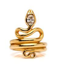 Darlene De Sedle - Metallic Diamond Coiled Snake Ring - Lyst